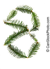 8 - number symbol from christmas alphabet