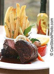 Tenderloin Steak - 8 oz Tenderloin Steak topped with truffle...