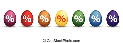 8 Percent Colored Easter Eggs Header