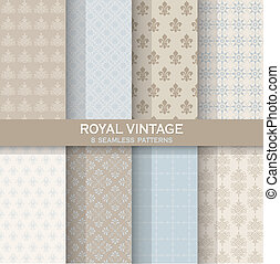 8 Seamless Patterns - Royal Vintage Set - Texture for...