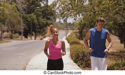 8-Slowmotion People Doing Sports Fitness Running Smiling