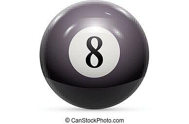 8,  snooker, vetorial, piscina, Ilustração