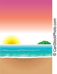 8, strand, achtergrond