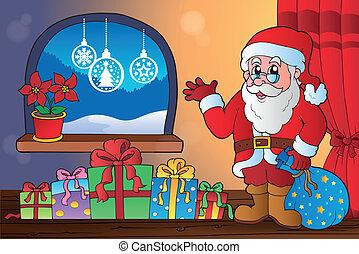 8, téma, szobai, karácsony