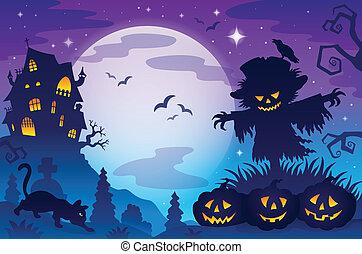 8, tema, halloween, avbild