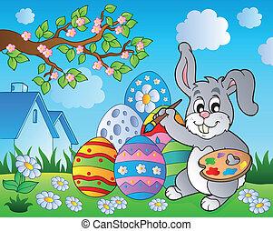 8, thème, lapin pâques, image