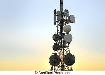8, tour, télécommunications