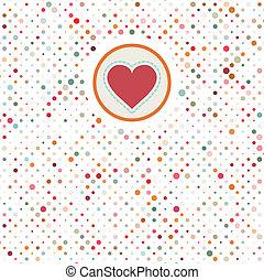 8, valentine, polka, eps, dots.