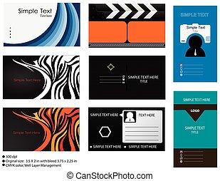 8 Vector Business Card Templates