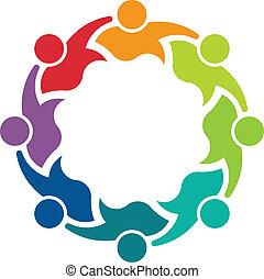 8, wizerunek, teammates, handlowy, logo