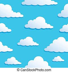 8, wolkenhimmel, seamless, hintergrund