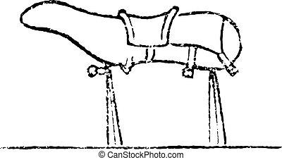 8., wooden ló, szüret, engraving.