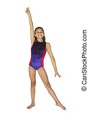 8 year old girl in gymnastics poses - Model Release #286 8...