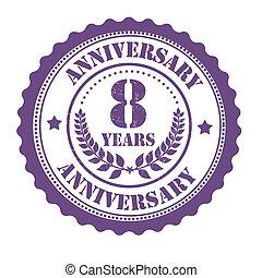 8 years anniversary stamp