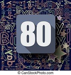 80, 背景, 幸せ, ∥あるいは∥, card., birthday