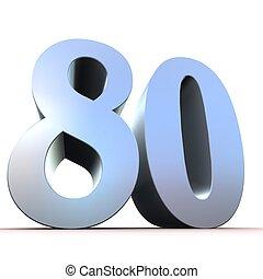 80, -, argento, numero