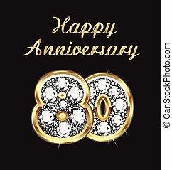 80, birthday, 記念日, 年
