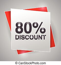80% discount, poster design element