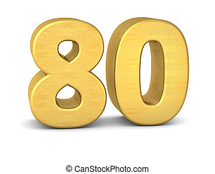 80, nombre, or, 3d