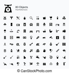 80 Objects Icons