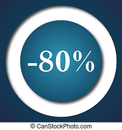 80 percent discount icon