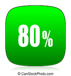 80 percent green icon