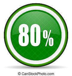 80 percent green icon sale sign