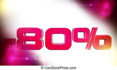 80 percent OFF 01 - 80 percent OFF discount animation
