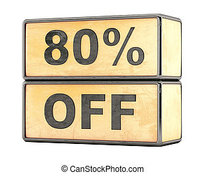 80 percent sale discount