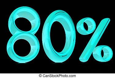 """""""80"""", procent, -, tachtig, 3d"""