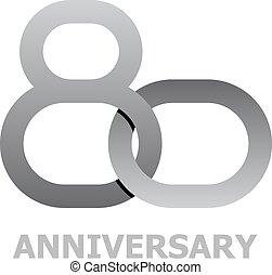 80 years anniversary symbol