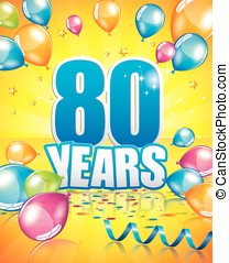 80 years birthday card