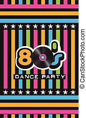 80's Dance Party Poster
