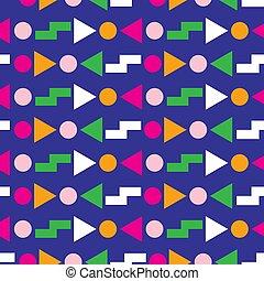 80s, muster, geometrisches design, seamless