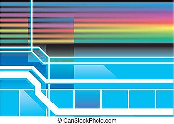 80s, neon, retro, hintergrund