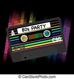 80s, partido, vetorial, fundo