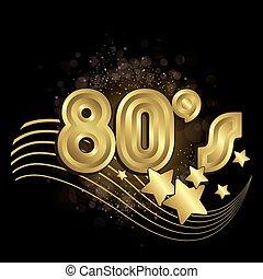80s, pretas