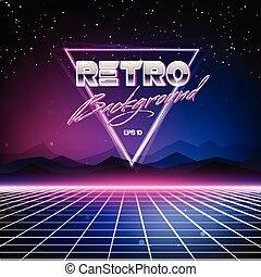 80s, retro, fundo, sci-fi