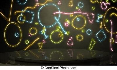 80's Themed Backdrop Loop