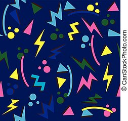 80's - vector 80s 90s background seamless