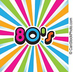 80s, vetorial, arte, estouro, fundo