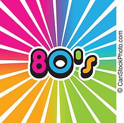 80s, vindima, cor, vetorial, fundo
