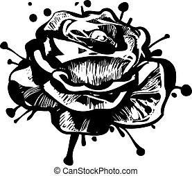 81 sketch of a flower garden blossoming bud of a rose(2).jpg