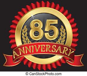 85, anni, anniversario, dorato
