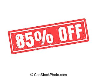 85 percent off red stamp style