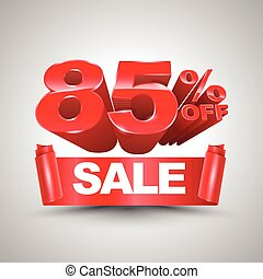 85 percent off sale red