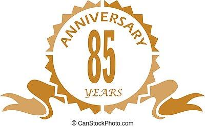85 Years Ribbon Anniversary