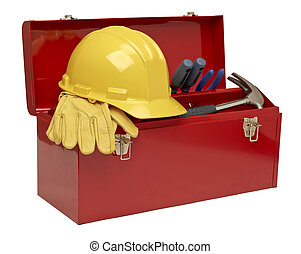 864 tool kit - Image of tool kit isolated on a white...