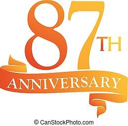 87 Year Ribbon Anniversary