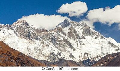 8845m, everest, höchsten, mountain., einfassung.